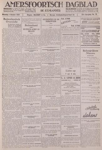 Amersfoortsch Dagblad / De Eemlander 1934-10-01