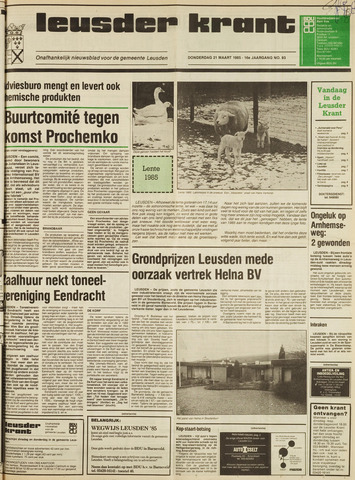 Leusder Krant 1985-03-21