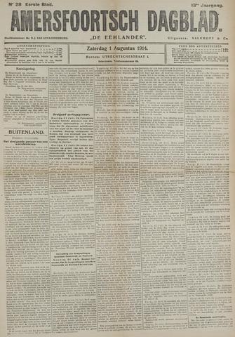 Amersfoortsch Dagblad / De Eemlander 1914-08-01