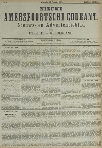 Nieuwe Amersfoortsche Courant 1887-02-23