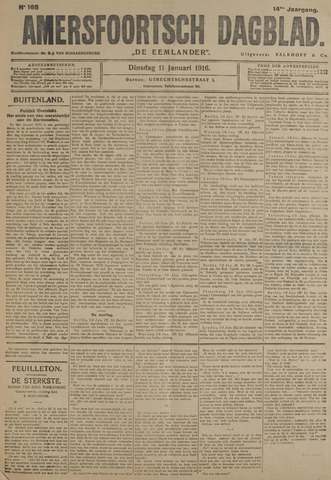 Amersfoortsch Dagblad / De Eemlander 1916-01-11