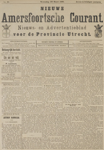 Nieuwe Amersfoortsche Courant 1898-03-30