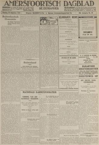 Amersfoortsch Dagblad / De Eemlander 1931-08-25