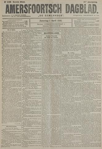 Amersfoortsch Dagblad / De Eemlander 1916-04-01