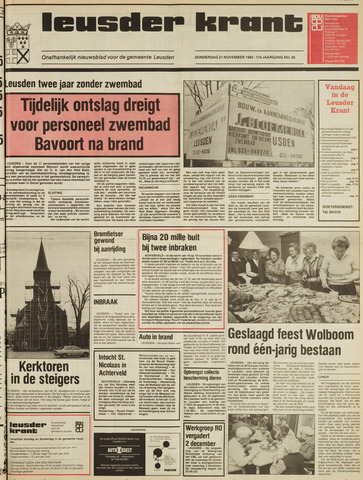 Leusder Krant 1985-11-21