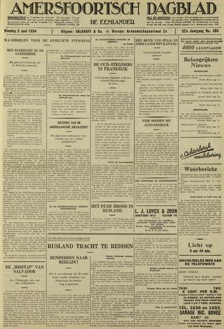 Amersfoortsch Dagblad / De Eemlander 1934-06-05