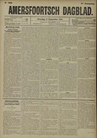 Amersfoortsch Dagblad 1910-09-13