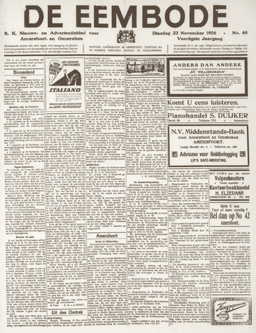 De Eembode 1926-11-23