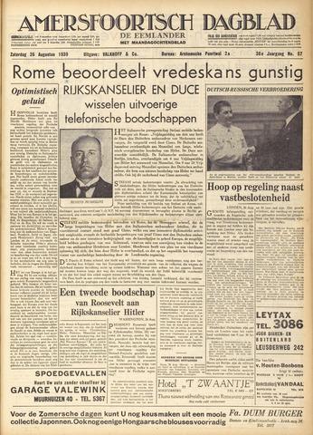 Amersfoortsch Dagblad / De Eemlander 1939-08-26
