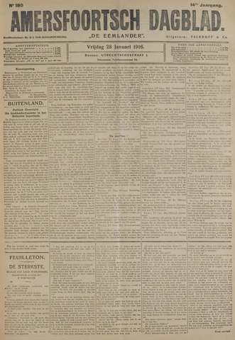 Amersfoortsch Dagblad / De Eemlander 1916-01-28