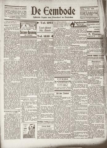 De Eembode 1936-02-07
