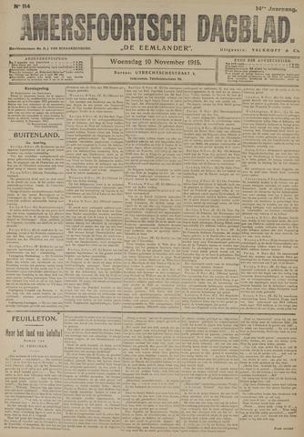 Amersfoortsch Dagblad / De Eemlander 1915-11-10