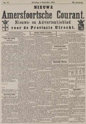 Nieuwe Amersfoortsche Courant 1914-09-05