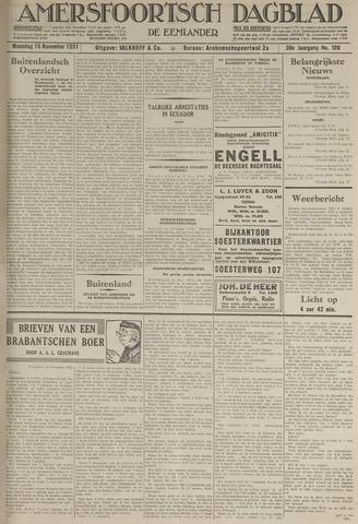 Amersfoortsch Dagblad / De Eemlander 1931-11-16
