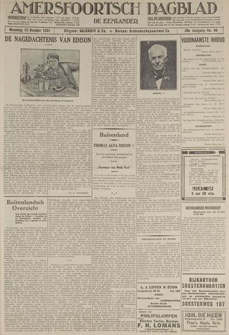 Amersfoortsch Dagblad / De Eemlander 1931-10-19
