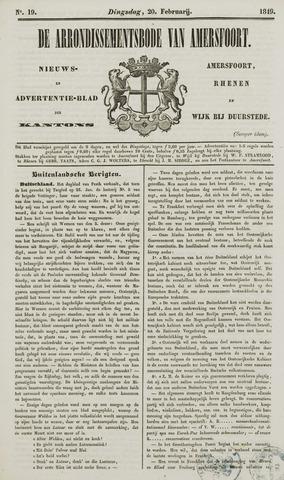 Arrondissementsbode van Amersfoort 1849-02-20