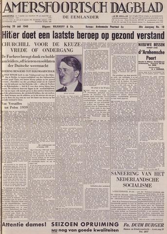 Amersfoortsch Dagblad / De Eemlander 1940-07-20