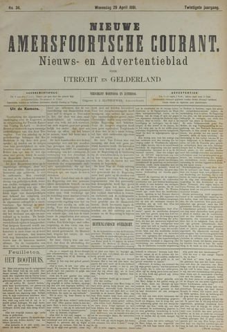 Nieuwe Amersfoortsche Courant 1891-04-29