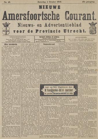 Nieuwe Amersfoortsche Courant 1919-10-04