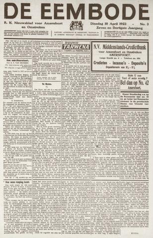 De Eembode 1923-04-10