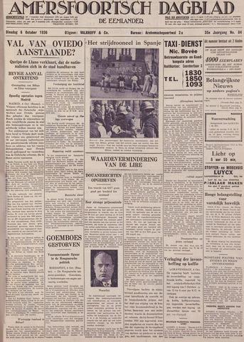 Amersfoortsch Dagblad / De Eemlander 1936-10-06