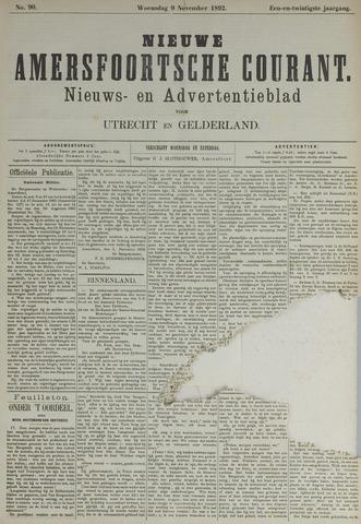 Nieuwe Amersfoortsche Courant 1892-11-09