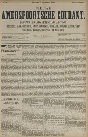 Nieuwe Amersfoortsche Courant 1884-09-27
