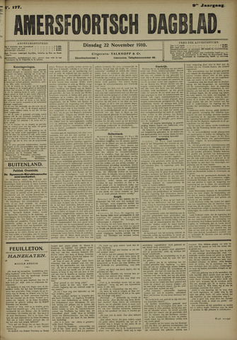 Amersfoortsch Dagblad 1910-11-22