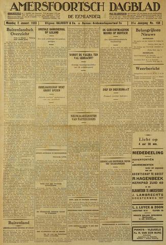 Amersfoortsch Dagblad / De Eemlander 1933-01-02