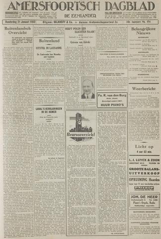 Amersfoortsch Dagblad / De Eemlander 1932-01-21