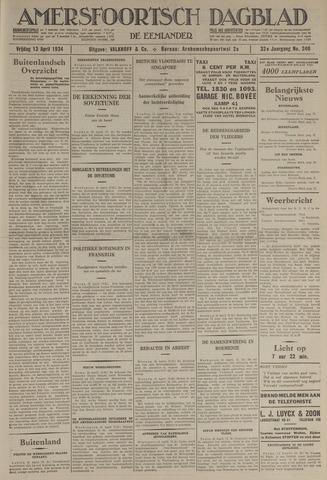 Amersfoortsch Dagblad / De Eemlander 1934-04-13