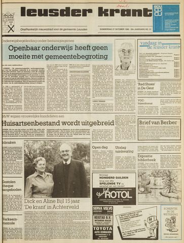 Leusder Krant 1988-10-27