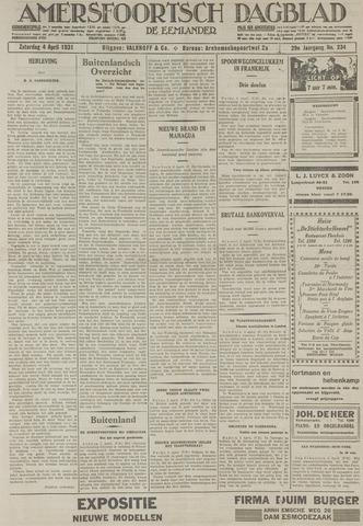 Amersfoortsch Dagblad / De Eemlander 1931-04-04