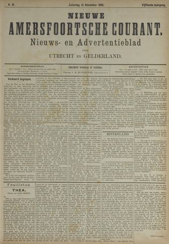 Nieuwe Amersfoortsche Courant 1886-11-13