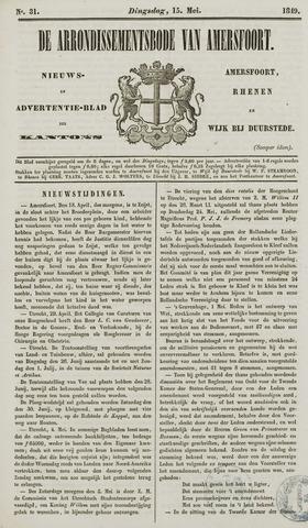 Arrondissementsbode van Amersfoort 1849-05-15