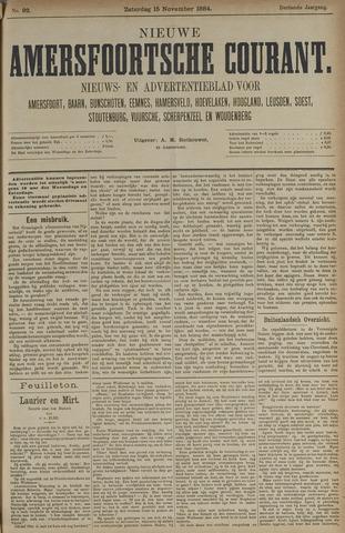 Nieuwe Amersfoortsche Courant 1884-11-15