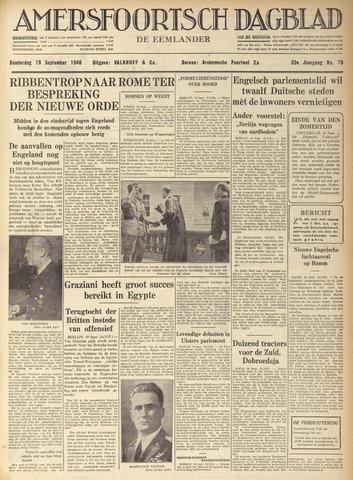 Amersfoortsch Dagblad / De Eemlander 1940-09-19