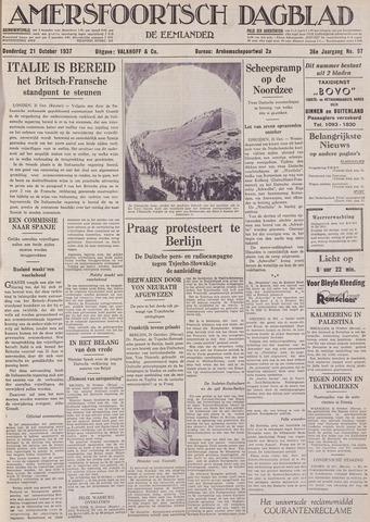 Amersfoortsch Dagblad / De Eemlander 1937-10-21