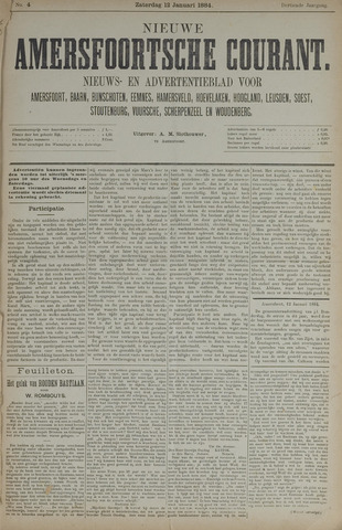 Nieuwe Amersfoortsche Courant 1884-01-12