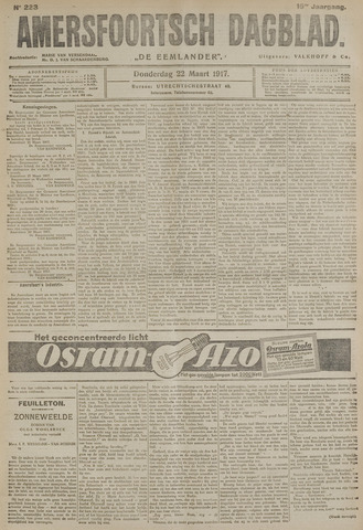 Amersfoortsch Dagblad / De Eemlander 1917-03-22