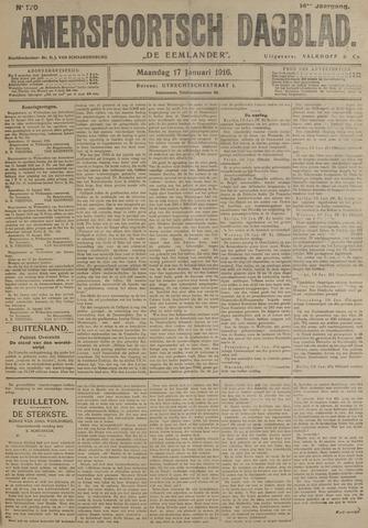 Amersfoortsch Dagblad / De Eemlander 1916-01-17