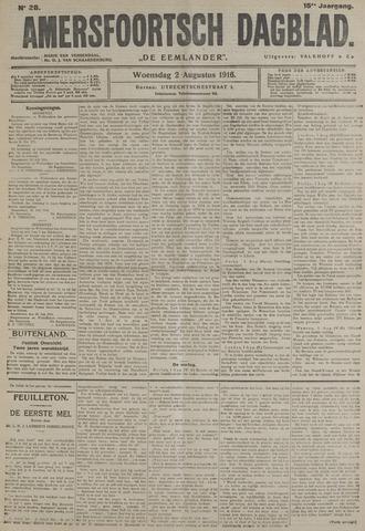 Amersfoortsch Dagblad / De Eemlander 1916-08-02