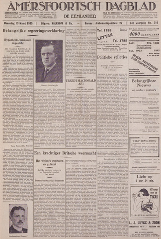 Amersfoortsch Dagblad / De Eemlander 1935-03-13