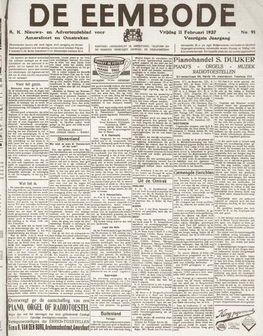 De Eembode 1927-02-11