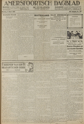 Amersfoortsch Dagblad / De Eemlander 1930-03-03