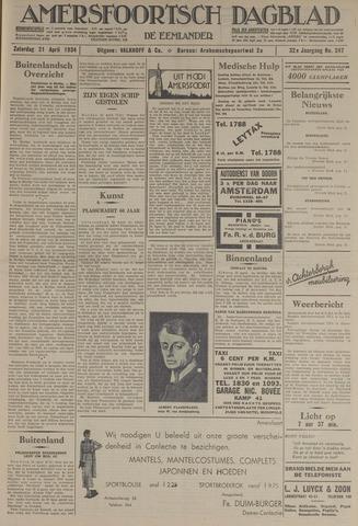 Amersfoortsch Dagblad / De Eemlander 1934-04-21