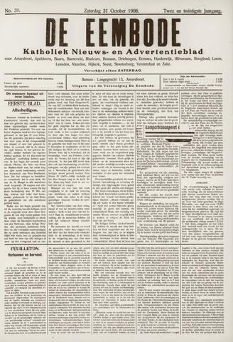De Eembode 1908-10-31