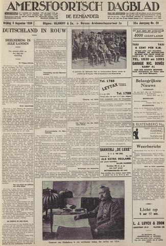 Amersfoortsch Dagblad / De Eemlander 1934-08-03