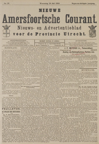 Nieuwe Amersfoortsche Courant 1910-07-20