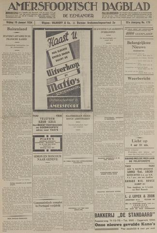 Amersfoortsch Dagblad / De Eemlander 1934-01-19